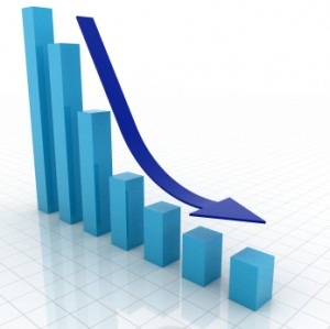 business graph downward trend Alabaster, Alabama Home Sales Statistics Update: December 2010