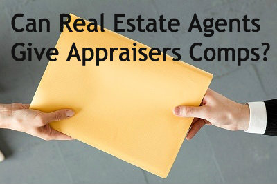 real estate agent giving appraiser comps