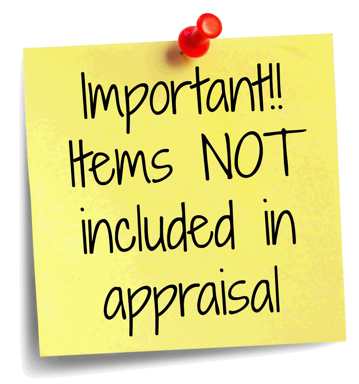 Items not included in appraisal