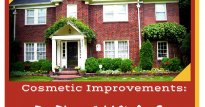 How important is the cosmetic condition of a house in an appraisal?