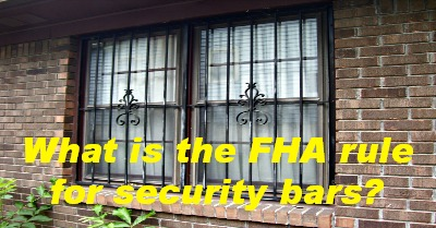 What Is The Fha Rule For Security Bars Birmingham