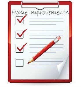 List of home improvements
