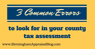 3 Common errors to look for in your county tax assessment