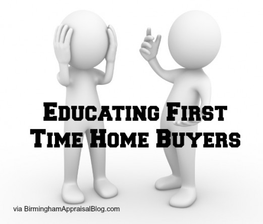appraiser educating first time home buyer