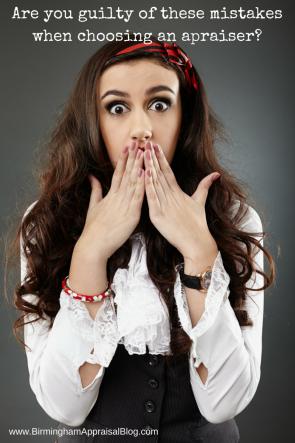 Mistakes when choosing an appraiser