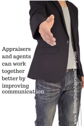 Appraisers and agents should improve communication