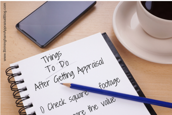 Things to do after getting the appraisal report