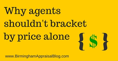 Why agents shouldn't bracket by price alone
