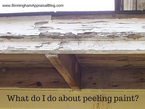 FHA peeling paint