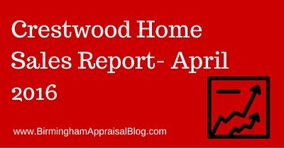 Crestwood Home Sales Report- April 2016