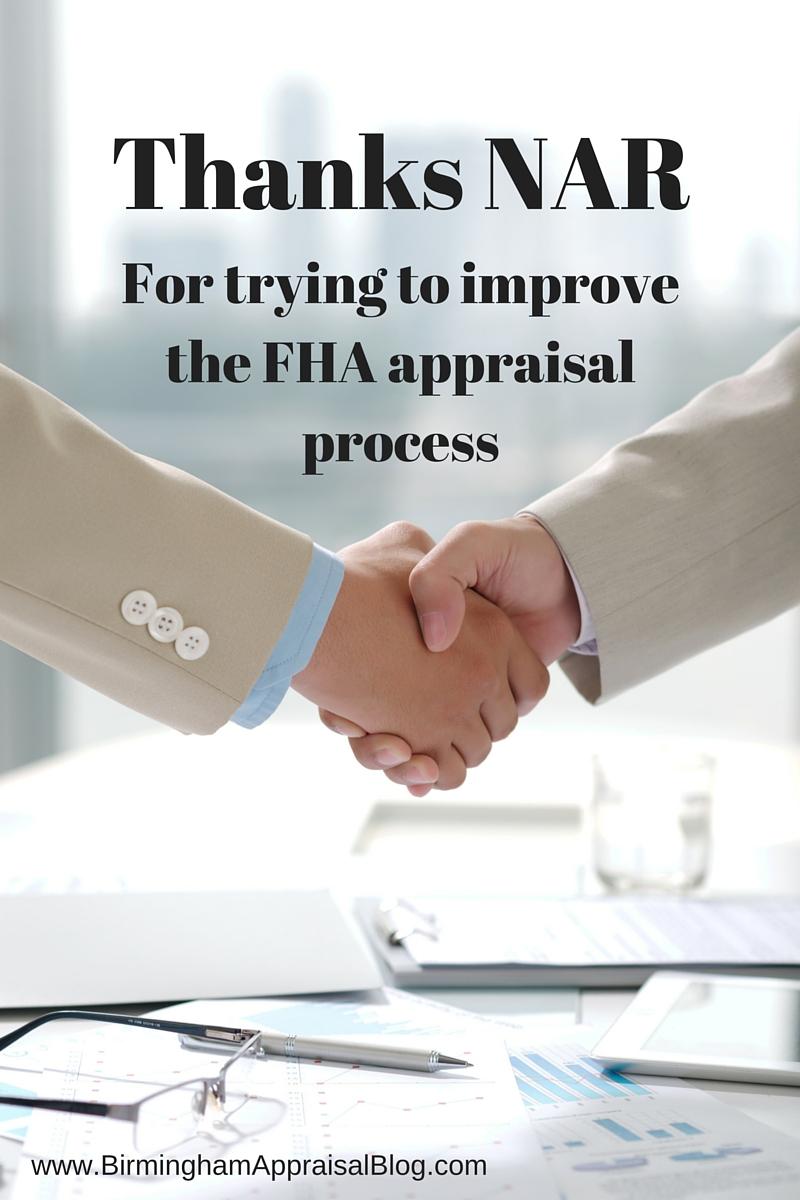 NAR and FHA appraisals