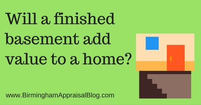 Will a finished basement add value to a home?
