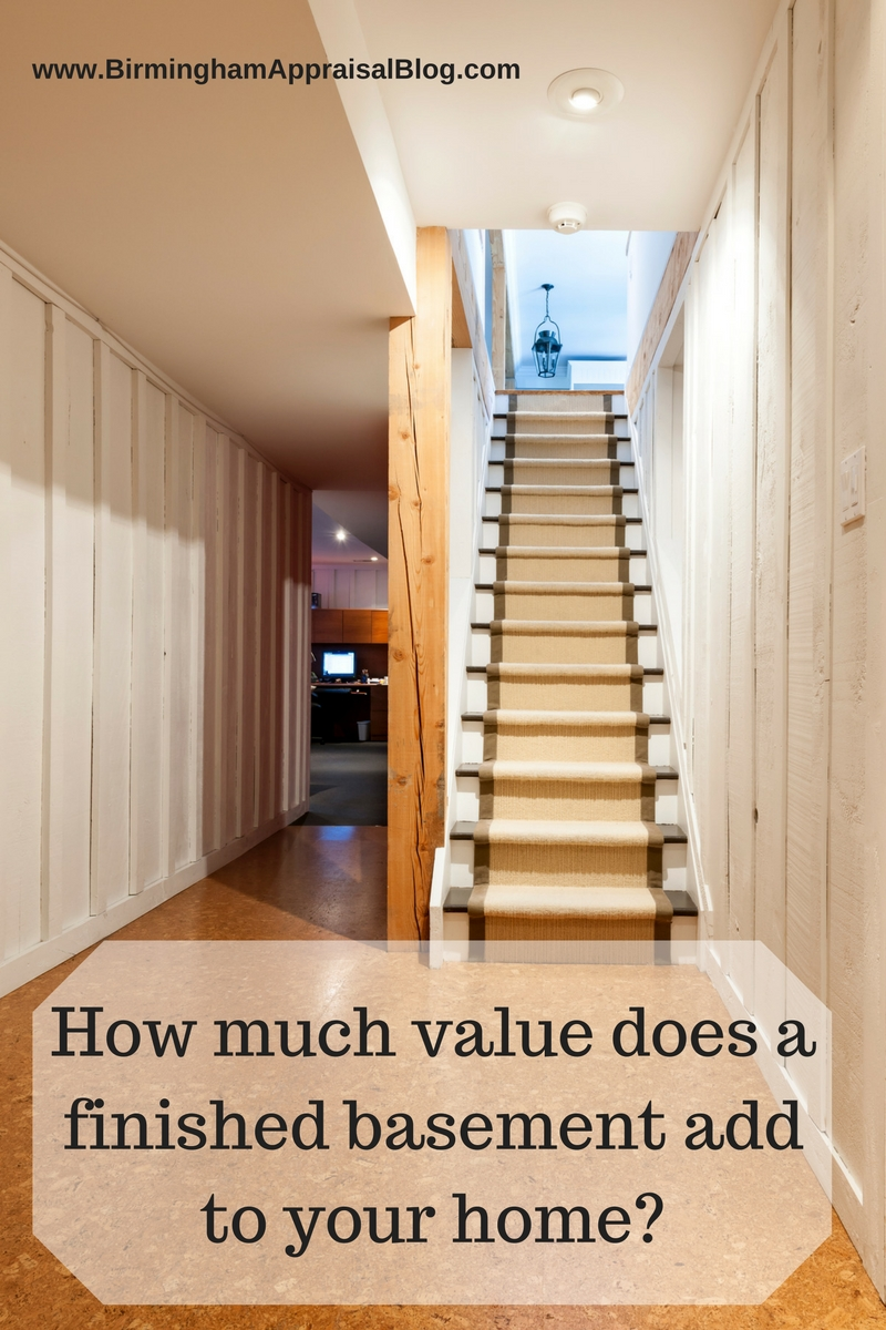 basement add value & Will a finished basement add value to a home? u2022 Birmingham Appraisal ...