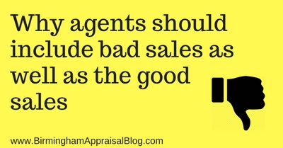 Why agents should include bad sales as well as the good sales