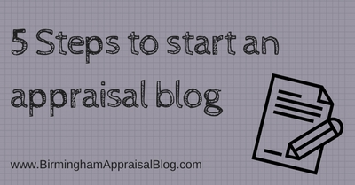 Steps to start appraisal blog
