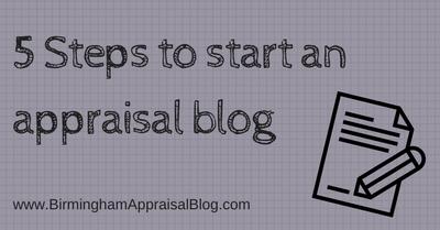 Steps to start appraisal blog