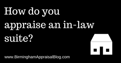 How do you appraise an in-law suite?