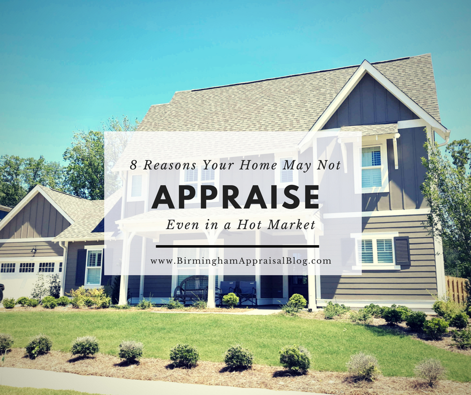 Reasons Your Home May Not Appraise