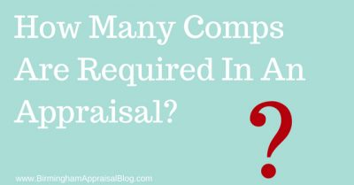 How Many Comps Are Required In An Appraisal?