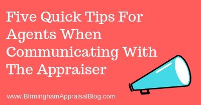 appraiser communication