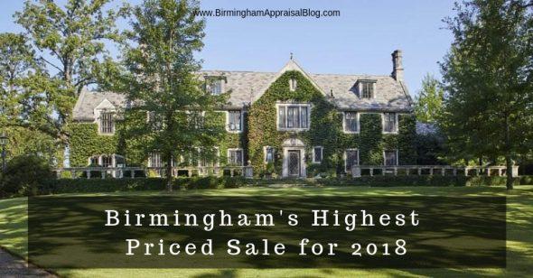 Birmingham highest priced sale 2018