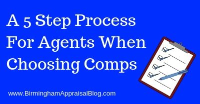5 Step Process For Choosing Comps
